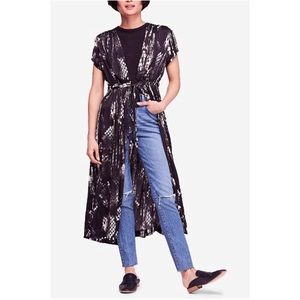 Free People So Long Robe Tie Front Waist